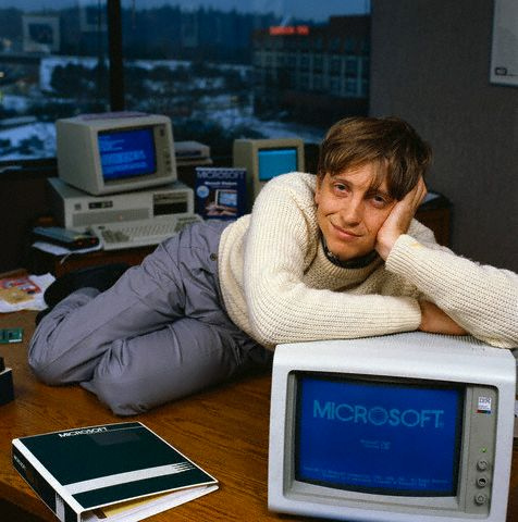 Bill Gates With Windows 1.0