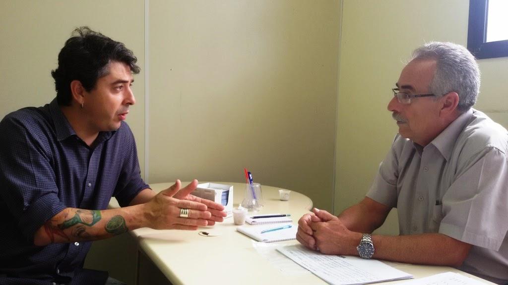 Presidente do COMTUR, Leonardo Rodrigues de Carvalho, com o secretário de Turismo, Carlos Tucunduva: parceria pelo fortalecimento do setor