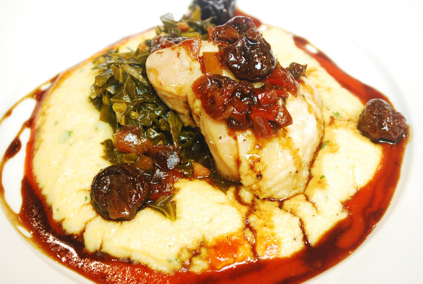 Fire in the triad 2012 highlights nik snacks for Creamy polenta with mushrooms and collards