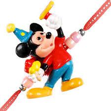 Children Cartoon Micky Mouse Rakhi for Raksha Bandhan Festival
