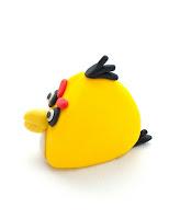 Yellow Angry birds iz tičino mase - Angry birds fondant