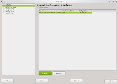 Pengaturan firewall OpenSuSE