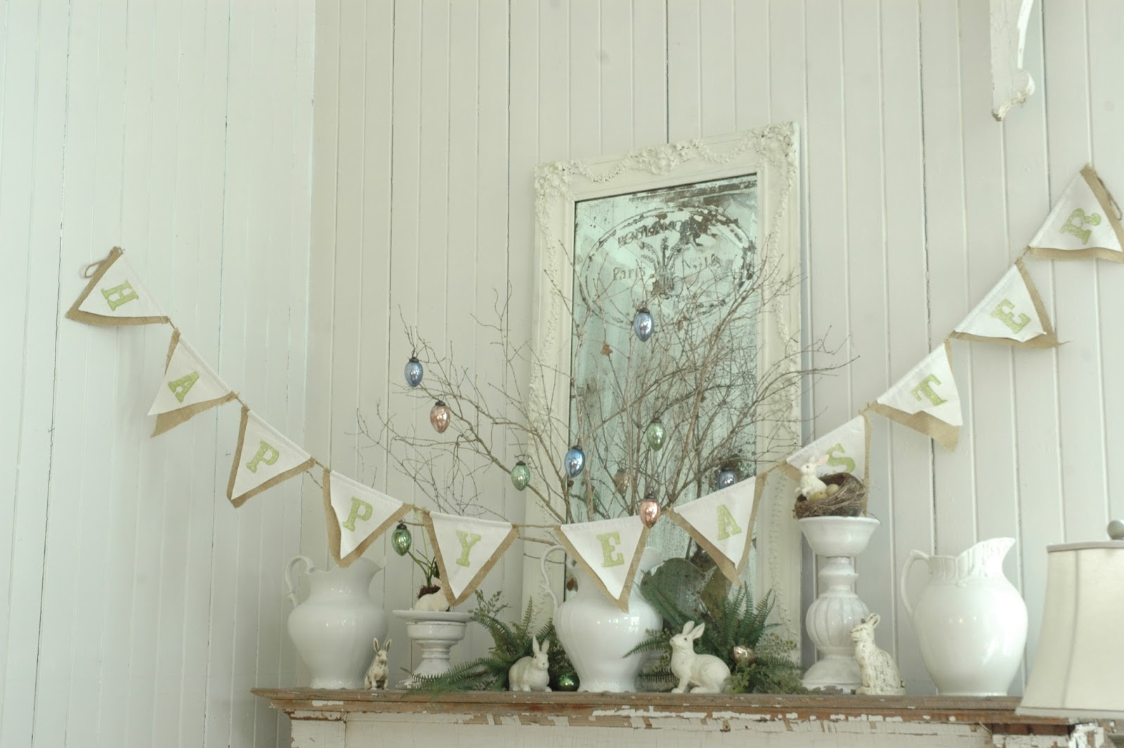 LITTLE PUTTY LITTLE PAINT - SPRING MANTEL