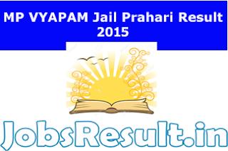 MP VYAPAM Jail Prahari Result 2015