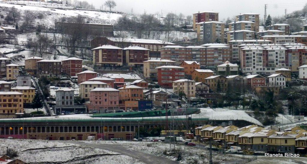 Paisaje urbano,nieve,Altamira