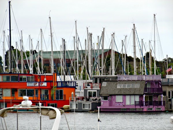 Jack London Square // Colorful Houseboats