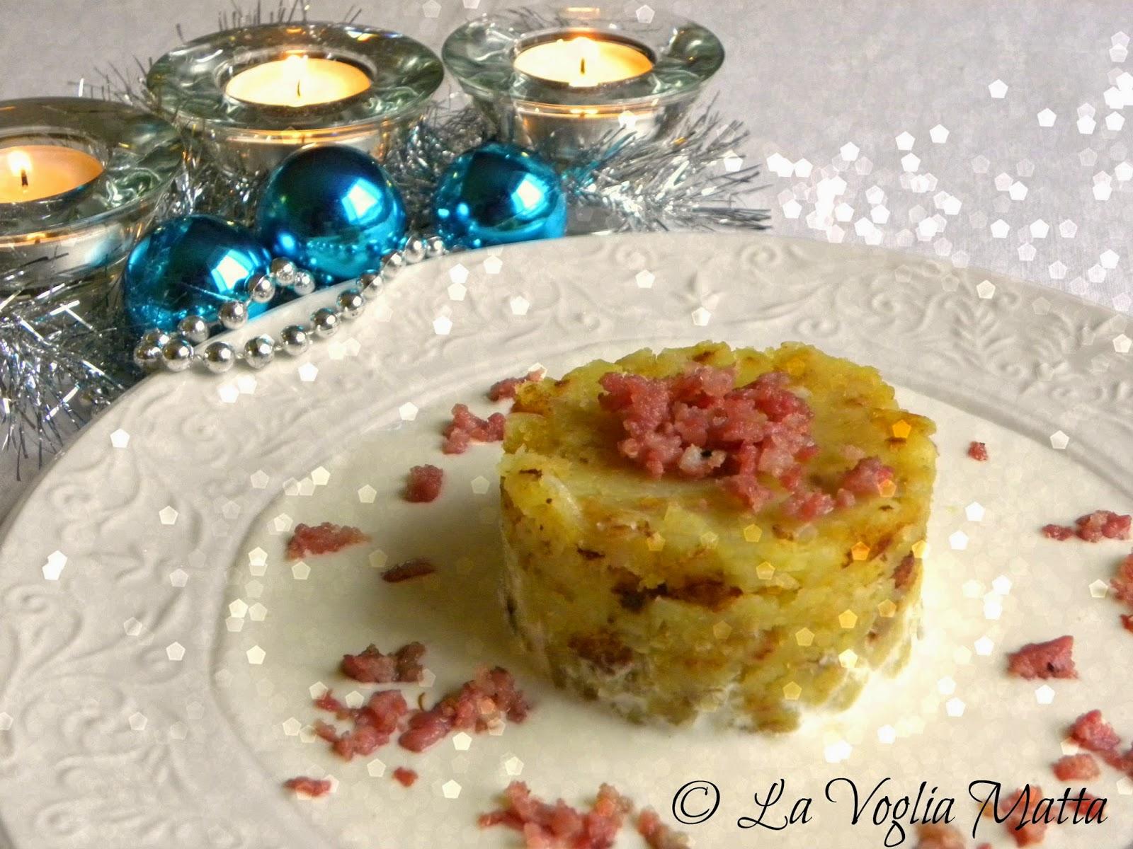 ricetta patate in tecia fonduta di quartirolo salsiccia