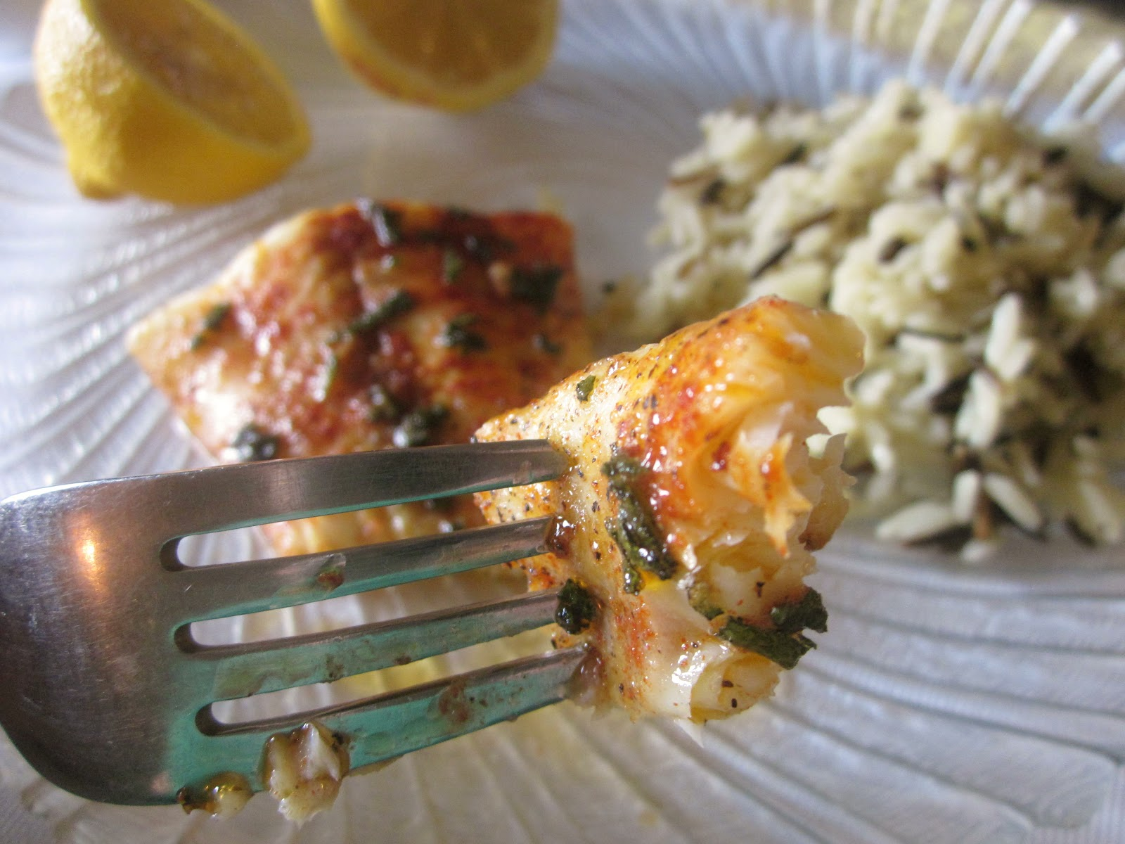 Dimples & Delights: Butter-Baked Cod