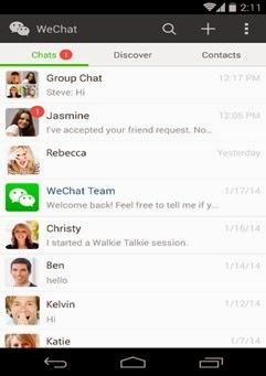 new menu bar wechat 5.2 update
