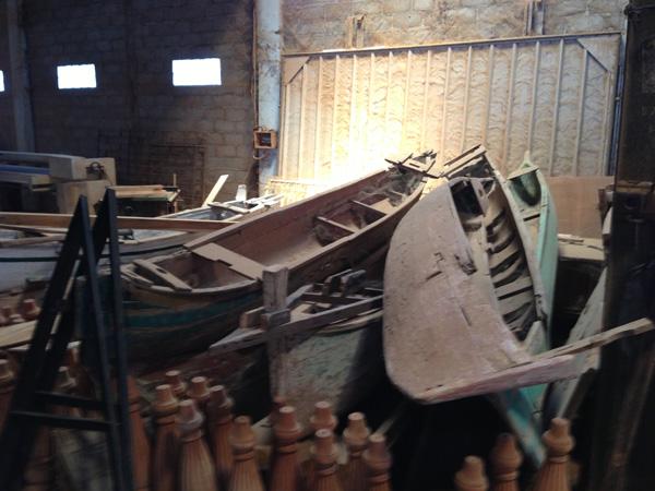 Reclaimed Teak Canoes