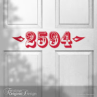 Circus Style Custom House Number Vinyl Door Decal