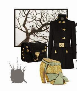 lovely black coat el abrigo negro perfecto zapatos brillantina mii miu