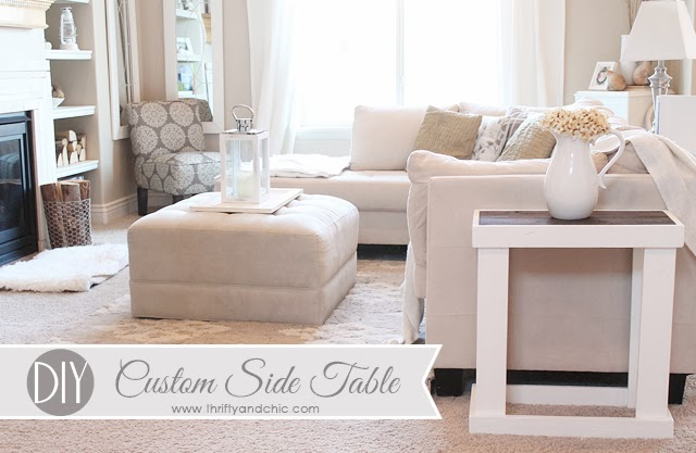 diy side table from Thrifty and Chic