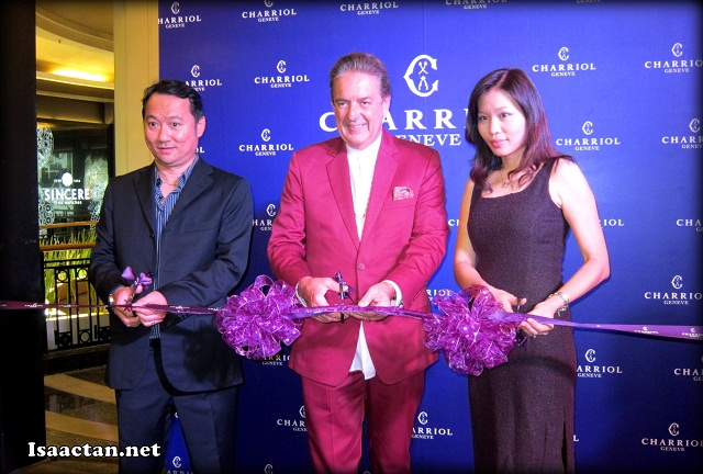 VIPs and Mr Phillippe Charriol himself was there to launch the Charriol Geneve flaship store