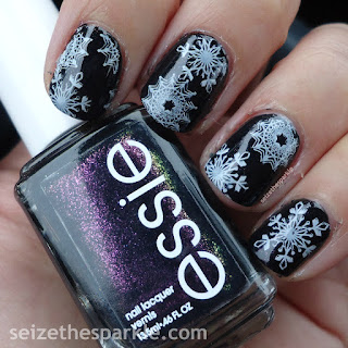 Snowflake Stamping Manicure