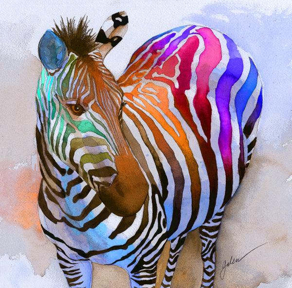 Cool zebra pictures funny animal for Art print for sale