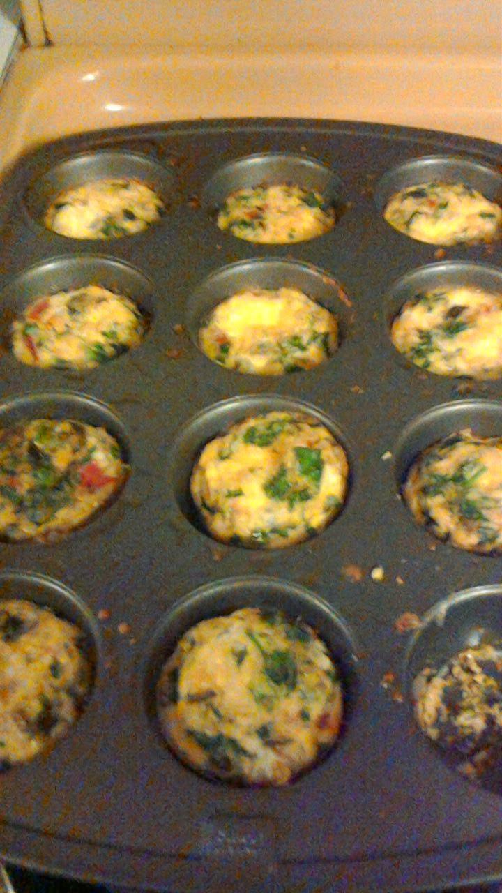 Baked egg veggie muffins