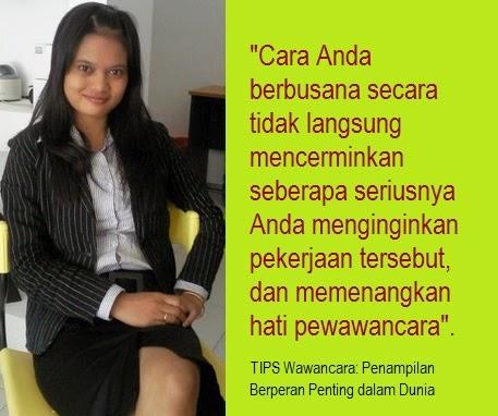 TIPS Wawancara: Penampilan Berperan Penting dalam Dunia Kerja