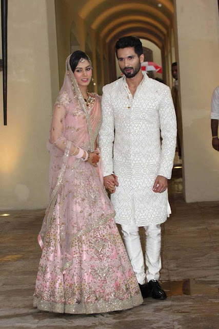 Newly married couple Shahid Kapoor and Mira Rajput photoshoot for media