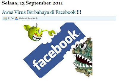 report virus in facebook by rahmat