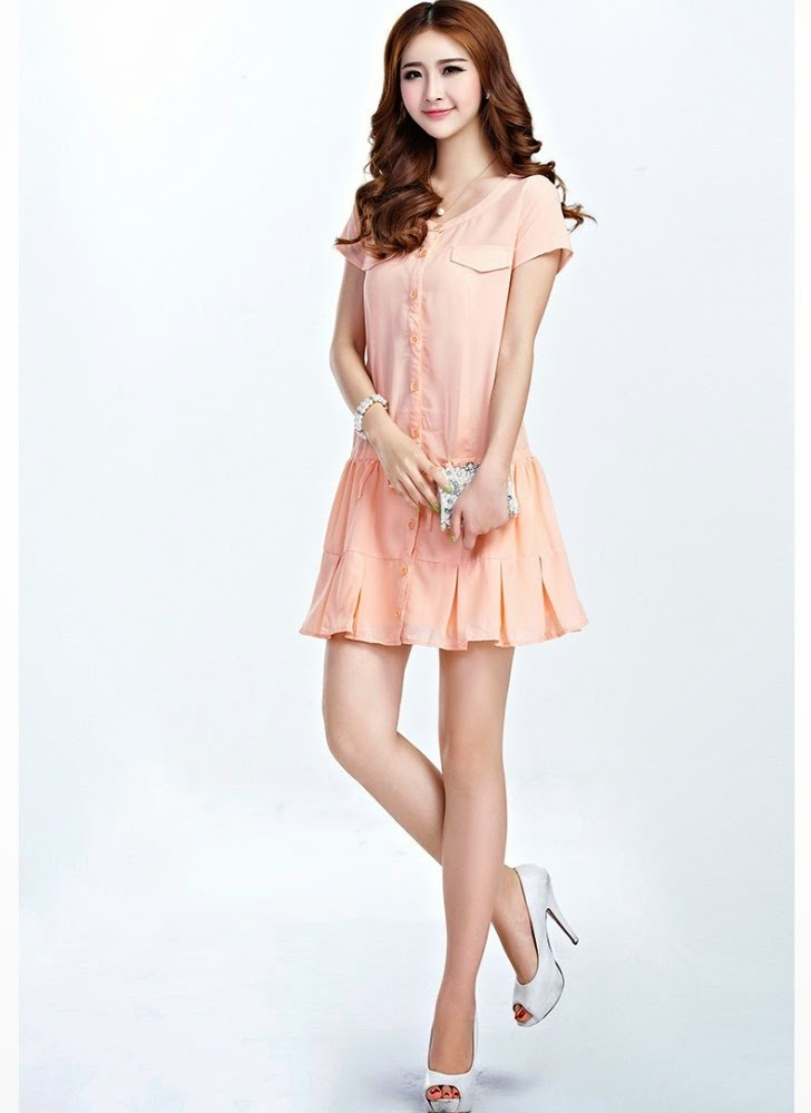 Short Sleeve Dress Beautiful And Cute Semi Formal Dresses 2014 2015