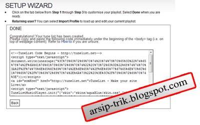 Arsip trik Tunelist online music player Code