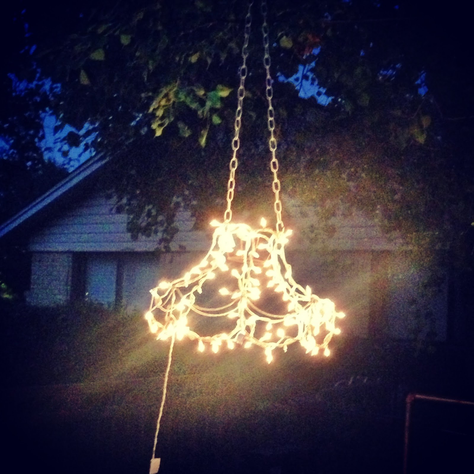Chandelier Outdoor Lighting: The Baby Giraffe: Outdoor Chandelier Tutorial
