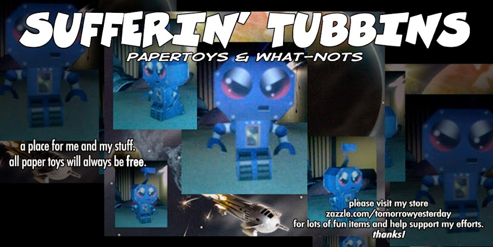 SUFFERIN' TUBBINS papertoys and what-nots