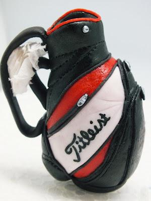 Golf bag!  3D sugar art figurine.