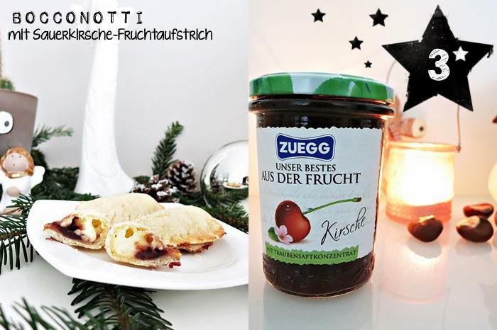 Bocconotti mit Sauerkirsche-Fruchtaufstrich