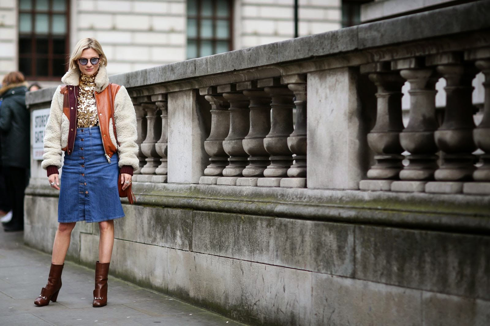 fashion-week-trend-sequin-top-denim-skirt
