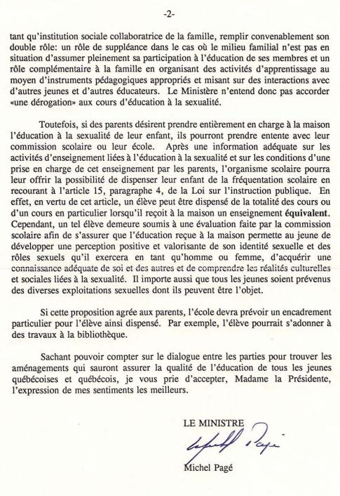 Pour Une Ecole Libre Au Quebec Quebec Education Sexuelle