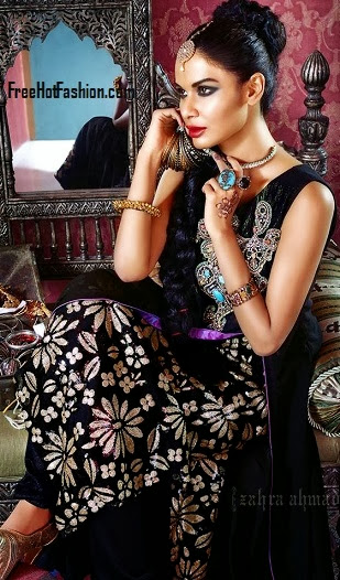 Anarkali Eid Dresses 2013-14 For Girl By Fashion She9