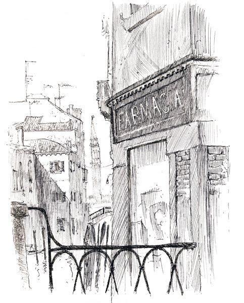 Scarabocchi per la strada venezia in bianco e nero 2 for Disegni di ponte anteriore