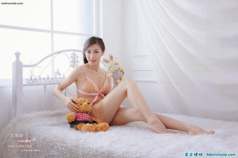 Innocent stewardess charming boudoir lingerie photo
