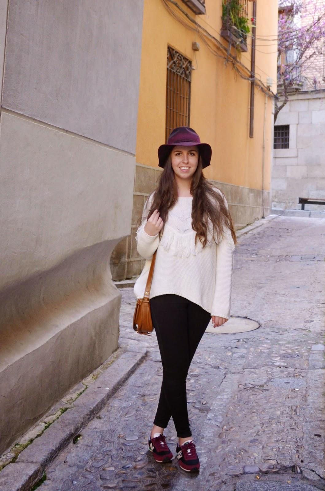 hey vicky hey, victoria suarez, blogger, toledo, new balance, fringe