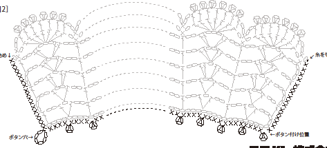 Ажурный воротничок крючком схема