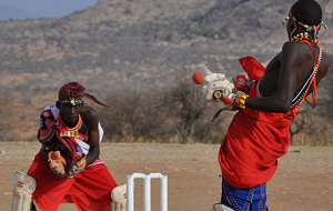 Maasai  playing some really good cricket in Laikipia