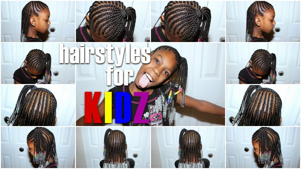 Hairstyles For Kidz Half Uphalf Down Braids W Beads Birth Of A