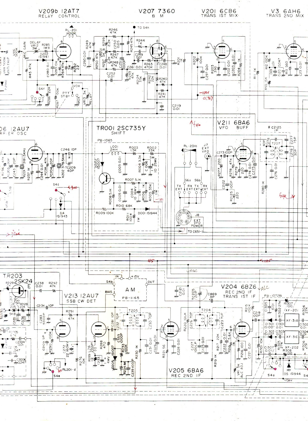 Yb4ga ham radio station sirkuit if amplifier dan lainnya yang berhubungan tampak tc205 20 pf yang terhubung dari t204 dan grid1 v205 ke grid1 dari v201 6cb6 via r201 1kohm ccuart Image collections