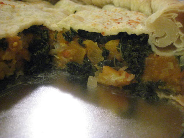 "... you making for dinner?"": Lentil Soup and Kale and Butternut Squash Pie"
