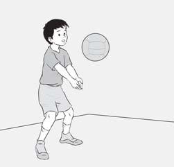 Gerakan tangan disesuaikan dengankeras/lemahnya kecepatan bola.