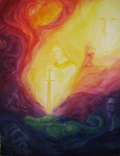 Micael e sua espada de luz