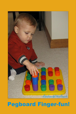 toddler, colorful pegs, fine motor development, eye hand coordination