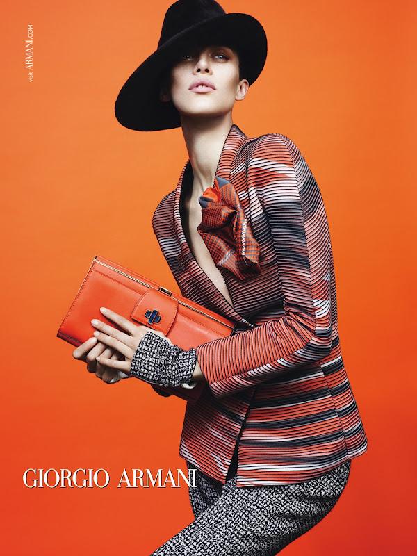 Giorgio armani f w 2012 ad campaign in moda veritas for Giorgio armani figli
