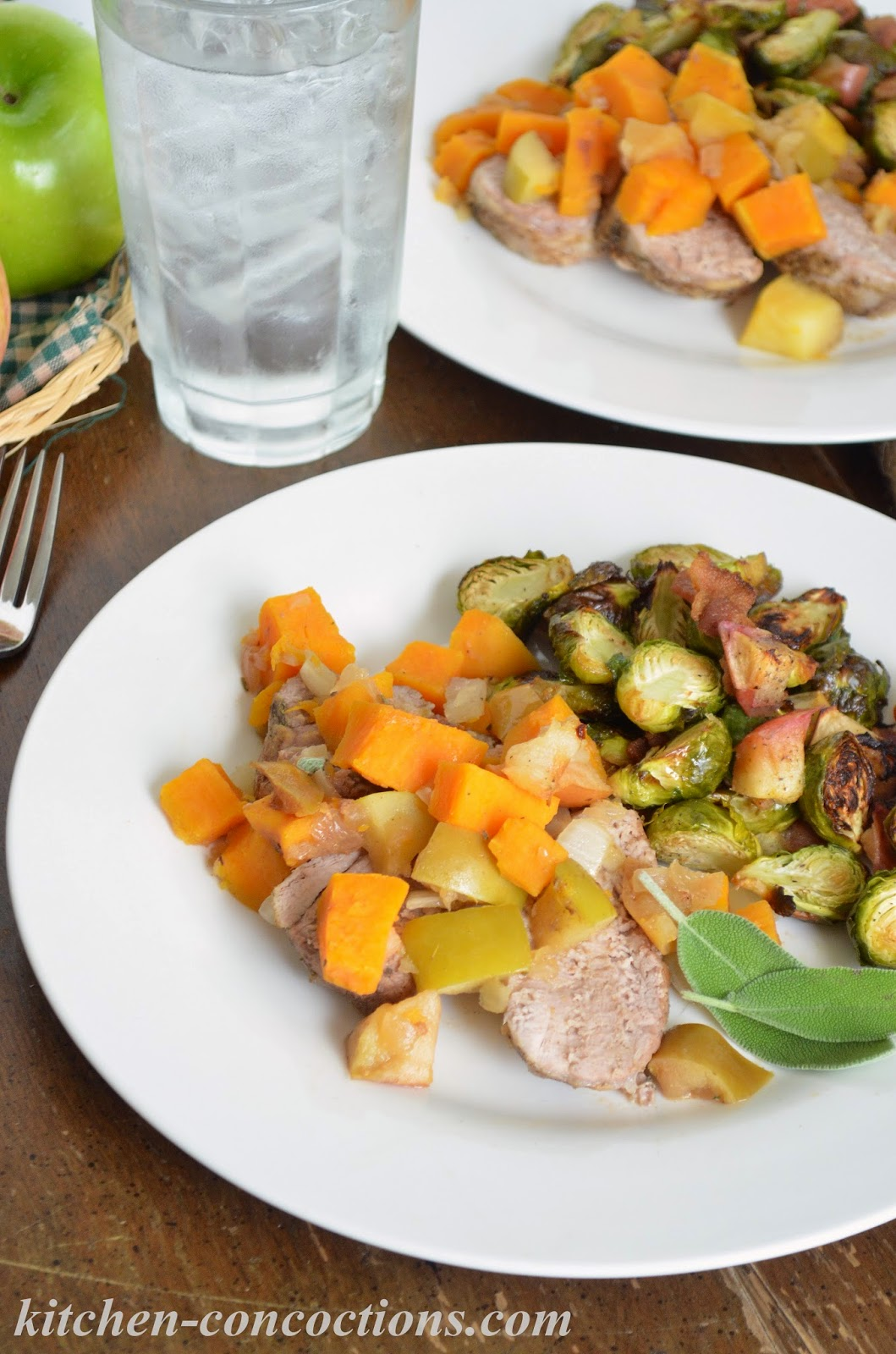 Slow Cooker Pork Loin With Apples And Sweet Potatoes By Heather H Of Kitchen Concoctions Www Kitchen Concoctions Com Printable Version