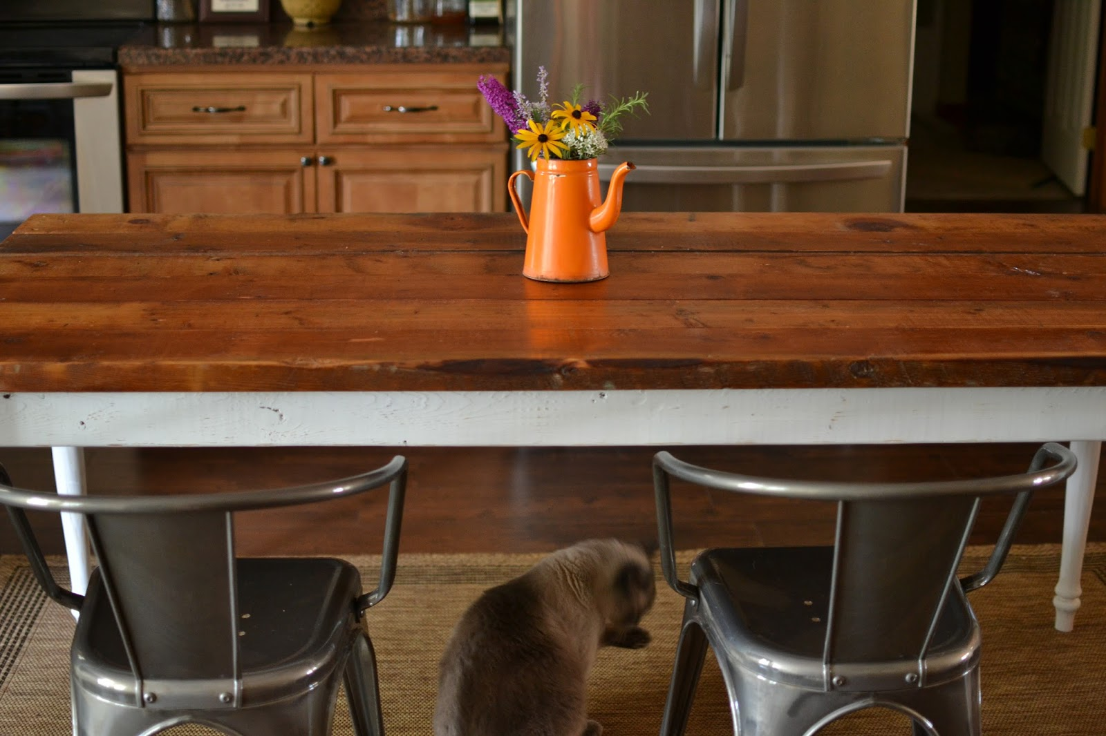 Our Neck Of The Woods Reclaimed Wood Farmhouse Table - Salvaged wood farmhouse table