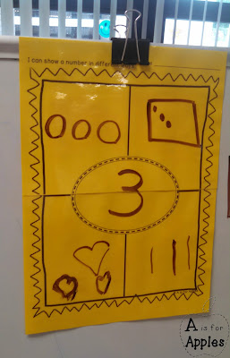 Ways to make numbers using printables and modeling with posters