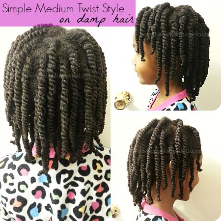 Beautifully Curled: Simple Medium Twist Hairstyle on Damp Hair