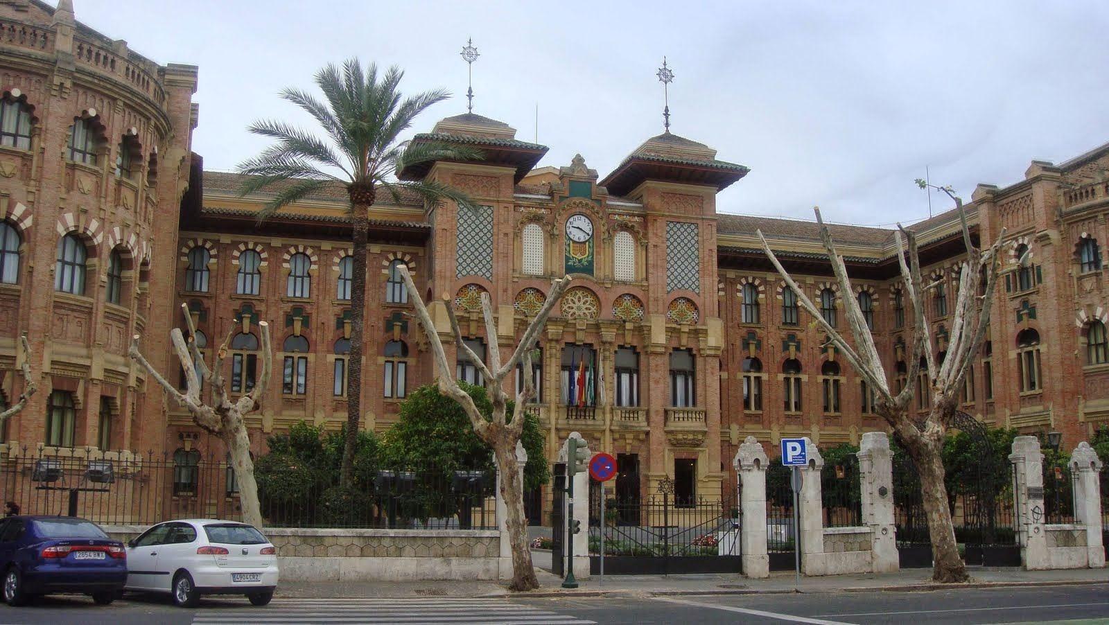 Imagen de la entrada principal del Rectorado de la Universidad de Córdoba